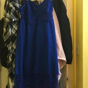 Lace top spaghetti strap dress